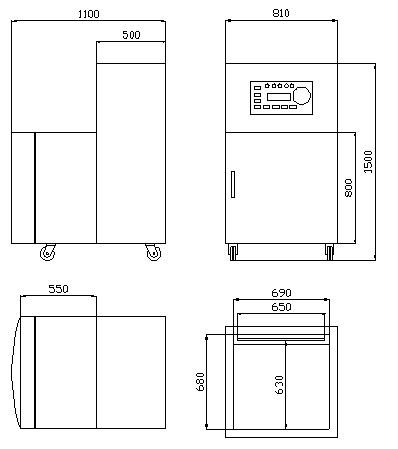大米真空包裝機內部結構圖